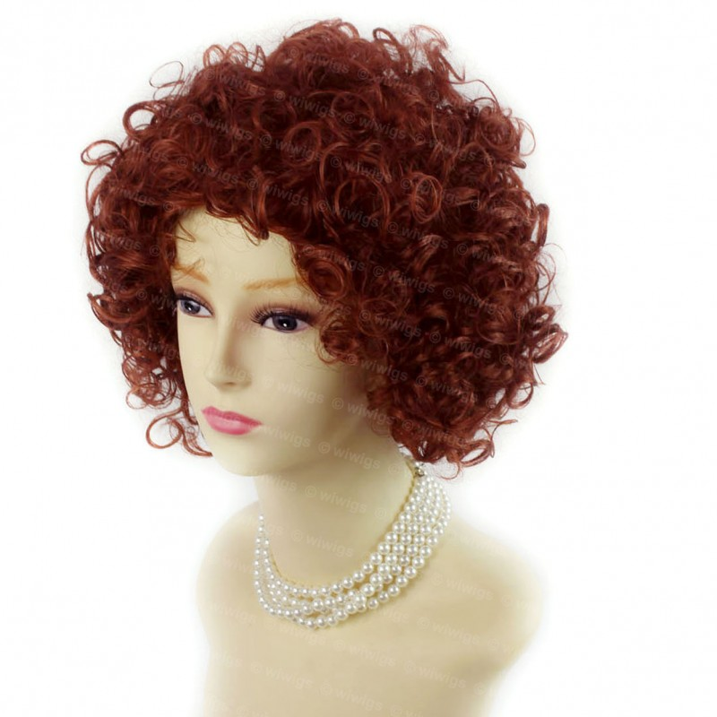 Wiwigs Amazing Sexy Wild Untamed Short Curly Wig Fox Red