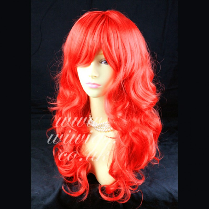 Fire Red Human Hair Wigs - Costume And Wigs