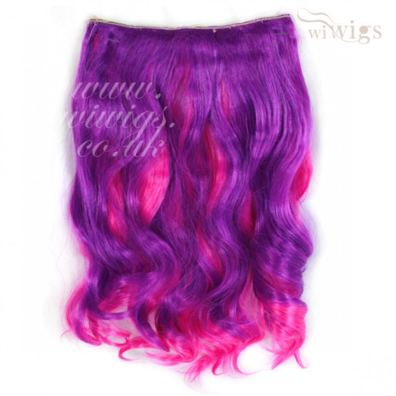 Wiwigs Lovely Colour 1 Piece Hair Extension 16 Long Purple Hot