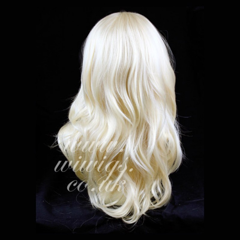 Wiwigs New Pale Blonde Long 3 4 Wig Fall Hairpiece Wavy