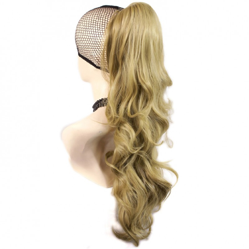 Wiwigs Long Wavy Gold Blonde Ponytail Jaw Claw Clip In Hair Piece