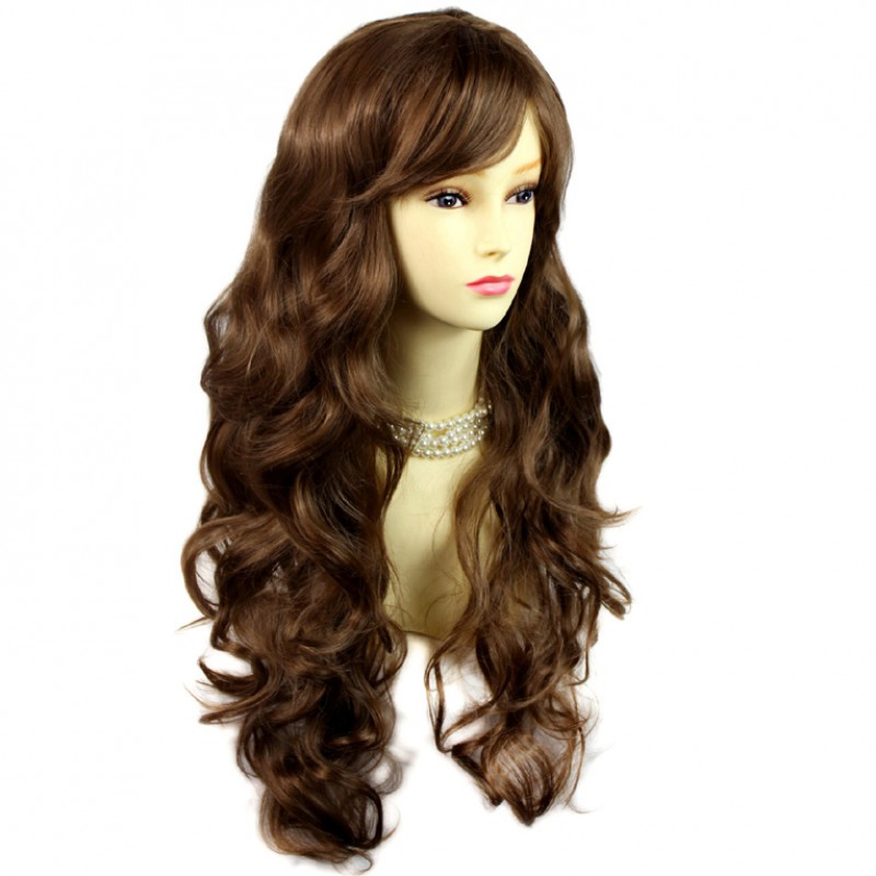 Wiwigs Sexy Beautiful Curly Light Chestnut Brown Long