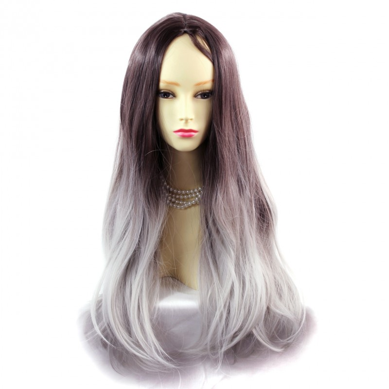 Wiwigs - Wiwigs ® Fabulous Long Straight Wig Grey & Dark ...