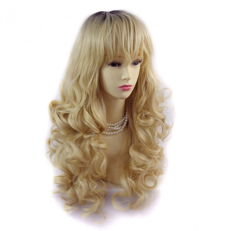 Wiwigs Wiwigs 174 Romantic Long Curly Wig Light Golden