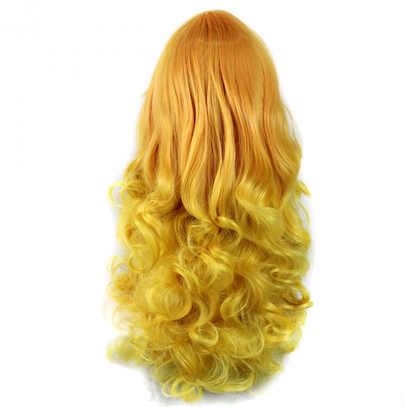 Wiwigs Wiwigs 174 Romantic Long Curly Wig Light Orange