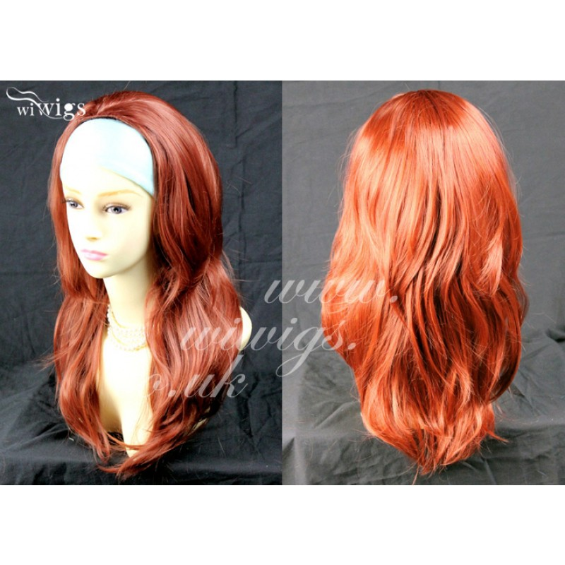 Wiwigs Fox Red 3 4 Fall Hair Piece Long Straight Layered