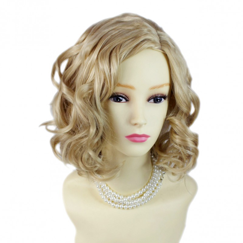 Wiwigs Lovely Short Wig Curly Blonde Mix Summer Style