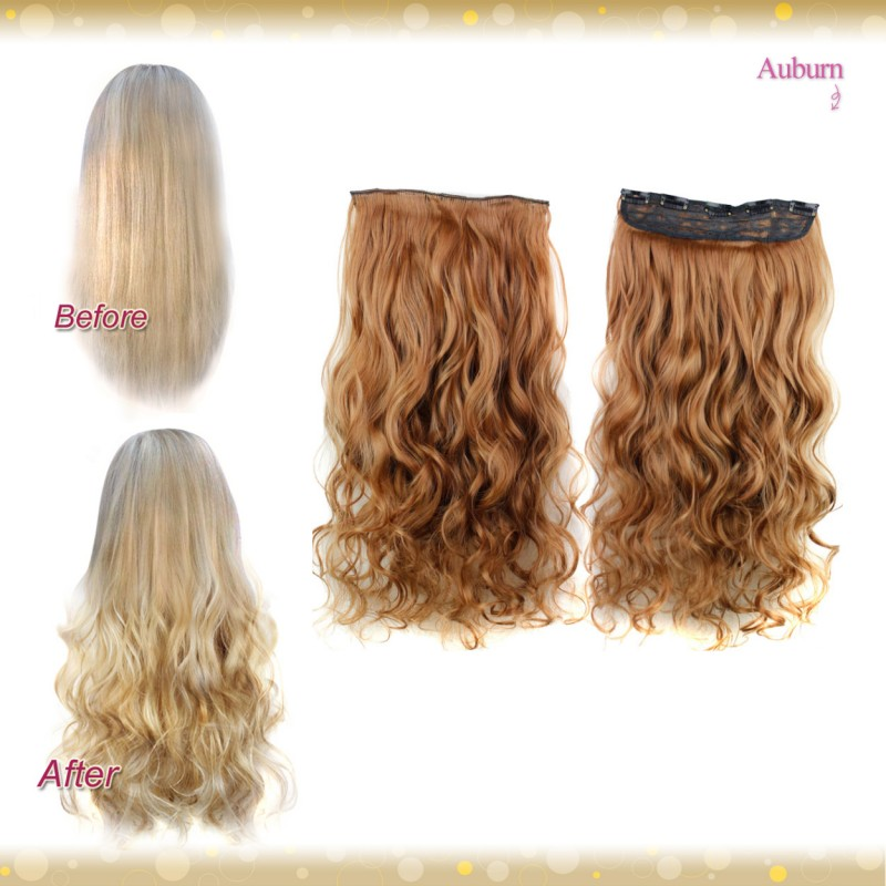 Wiwigs Half Head 1 Piece Clip In Curly Auburn Hair Extensions Uk