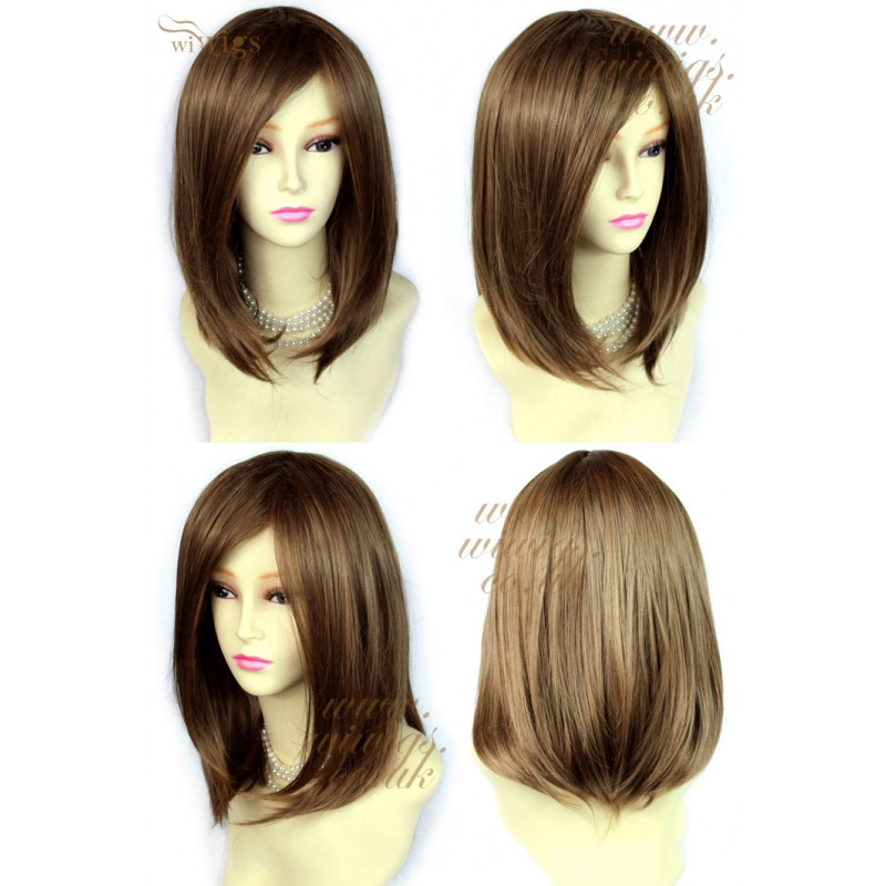 Wiwigs Faceframe Dark Brown Mix Blonde Medium Wig Bob