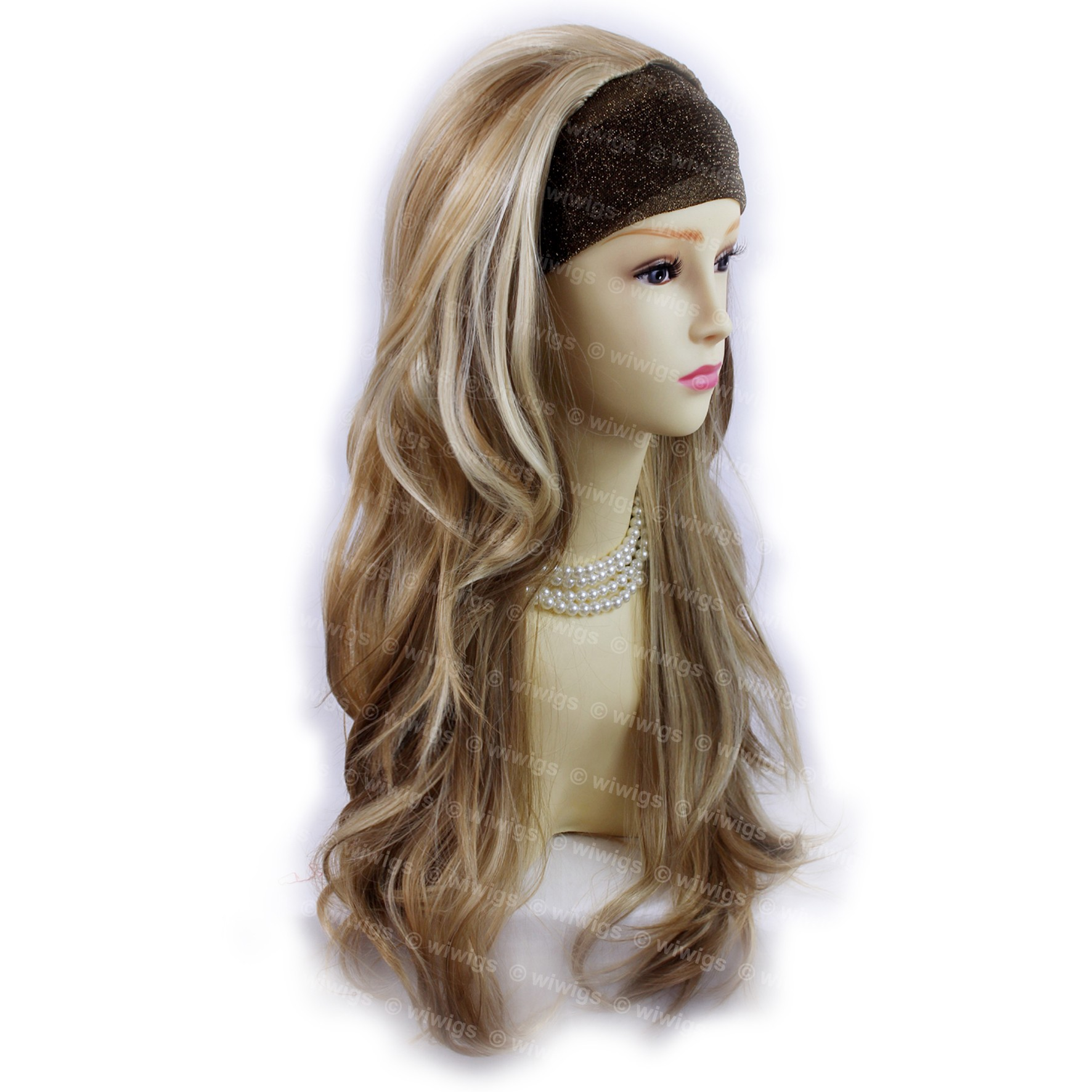 Wiwigs Blonde Brown 3 4 Fall Hair Piece Long Straight