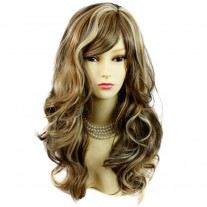 Wonderful wavy Long Blonde Brown mix Heat Resistant Ladies Wigs Hair UK