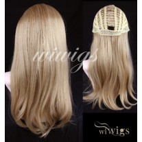 Wiwigs Golden Blonde with Light Blonde Highlights Long Straight 1 piece Hair Extension Hairpiece