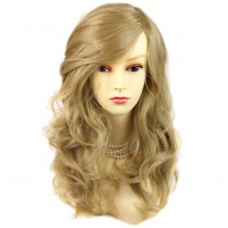 Wonderful wavy Long Golden Blonde Heat Resistant Ladies Wigs Hair UK