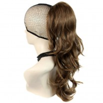 Long Wavy Light Brown Ponytail Claw Clip in Hair Piece Extension UK