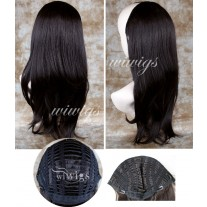 Wiwigs Long Dark Brown Straight 1 PIEC Hair Extension Hairpiece