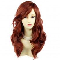 Wonderful wavy Long Copper red Heat Resistant Ladies Wigs Hair UK
