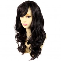 Wonderful wavy Long dark Brown Heat Resistant Ladies Wigs Hair UK