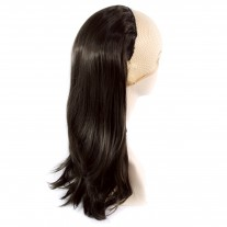 Wiwigs Long Straight Dark Brown 1 Piece Hair Extension Hairpiece