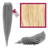 "DIY Double Weft Lush 'Platinum Blonde' 18"" Hair Extensions Deluxe Human Hair."