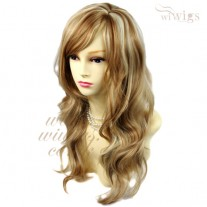 Wonderful wavy Long Golden strawberry Blonde mix Ladies Wigs Hair UK
