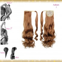Wrap Around Clip In Pony Curly Auburn Hair Extension UK