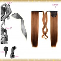 Wrap Around Clip In Pony Straight Auburn Hair Extension UK