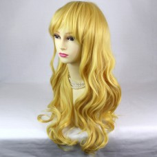 Dazzling Sexy Long Wavy Blonde mix Ladies Wigs Cosplay Party Hair from WIWIGS UK