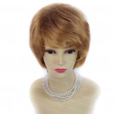 Lovely Blonde Red mix Wig Short Hair Wavy Full Ladies Wigs from Wiwigs UK