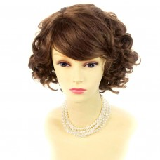 Summer Style Short Curly Light Brown Skin Top Ladies Wigs WIWIGS UK