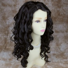 Long Curly Dark Brown Versatile Hair Ladies Wig