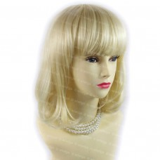 Lovely Summer Style Medium Straight Light Blonde Skin Top Lady Wigs WIWIGS UK