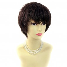 Lovely Summer Style Wavy Short Black Brown & Red Ladies Wigs from WIWIGS UK