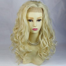 AMAZING Beautiful Lace Front wig Light Blonde Curly Long Ladies Wigs UK