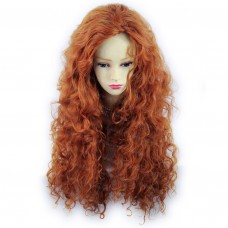 Beautiful SEXY Wild Untamed Long Curly Wig Fox Red Ladies Wigs from WIWIGS UK
