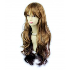 AMAZING Beautiful Wavy Long Strawberry Blonde & Burgundy Red / Plum Ladies Wigs