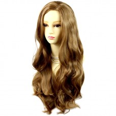 Sexy Fabulous Long Layers Wavy Wig Golden Blonde mix Ladies Wigs Skin Top UK