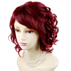 Awesome Lovely Summer Style Short Burgundy mix Red Skin Top Ladies Wig UK .
