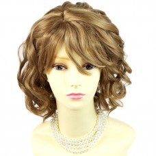 Awesome Lovely Summer Style Short Curly Golden Blonde mix Skin Top Ladies Wig UK