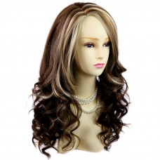 Beautiful Brown & Medium brown red & Blonde Long Ladies Wigs Fashion Hair UK