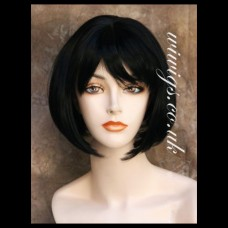 Pretty Short Bob Black wig Soft Natural Ladies Wigs UK