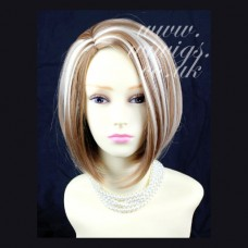 Classy Sophisticate Short Bob Skin Top Blonde mix Ladies Wigs UK