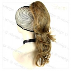 Long Wavy Golden Blonde mix Ponytail Claw Clip in Hair Piece Extension UK