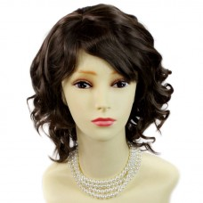 Awesome Lovely Summer Style Medium Brown Skin Top Ladies Wig UK