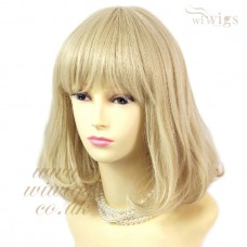 Classic Style SOFT Gold Blonde mix Ladies Wigs skin top Short wig WIWIGS UK