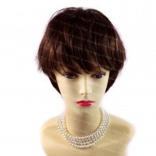 Beautiful Short Hair Dark Brown & Red Ladies Wigs Summer Style from WIWIGS UK