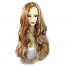 Beautiful Wavy Strawberry Blonde & Vanilla Blonde Long Ladies Wig from WIWIGS UK