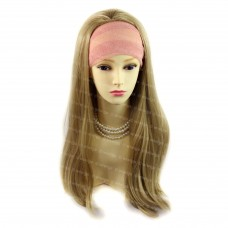 Heat Resistant Golden Blonde 3/4 Fall Hair Piece Long Straight Half Wig hairpiece