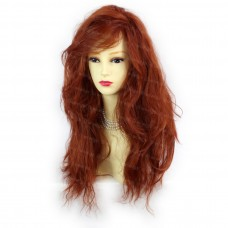 Romantic SEXY Wild Untamed Long Wavy Copper Red Ladies Wigs WIWIGS UK