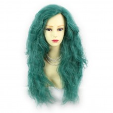 Romantic SEXY Wild Untamed Long Wavy Wig Green Ladies Wigs from WIWIGS UK