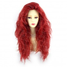 Romantic SEXY Wild Untamed Long Wavy Dark Red Ladies Wigs WIWIGS UK